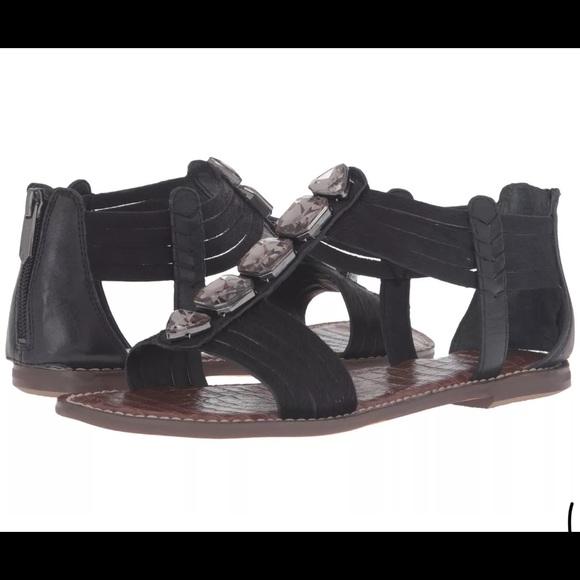 711d3ee14 Sam Edelman black gladiator sandals pony skin8.5